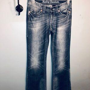 Harley-Davidson ladies boot 🥾 cut jeans 👖